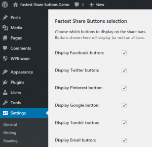 Fastest Share Buttons selection